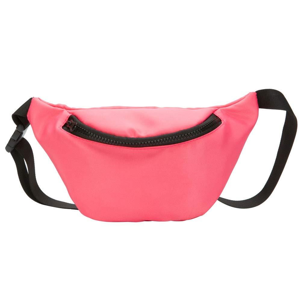 Inkach Kids Waist Pack Bag for Baby Boys Girls Belt Fanny Pack Adjustable Strap Crossbody Shoulder Chest Bag Hip Bum Bags (Pink)