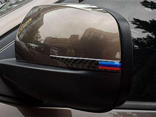 Biznon Set di 2 aste in fibra di carbonio specchietto retrovisore anti-collisione anti-prurito schermo per BMW serie 3 5 GT 7 x 3 x4 2011 –  2017 x 5 X6 2008 –  2017&