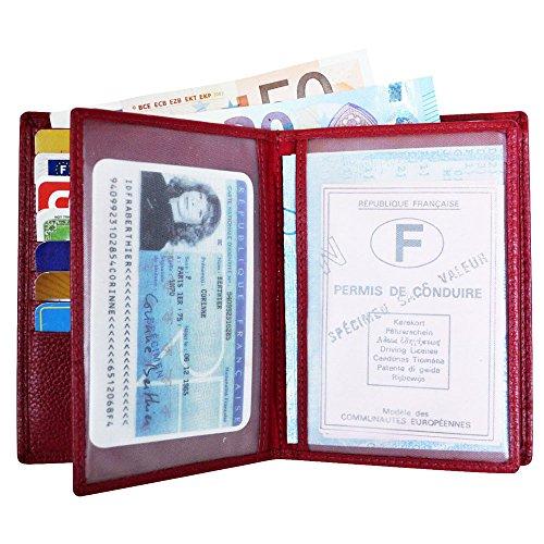 Cuir 22 Vachette Portefeuille Volets Grande Charmoni 4 Fuchsia Cartes Véritable En Emplacements marine I8U6AFw