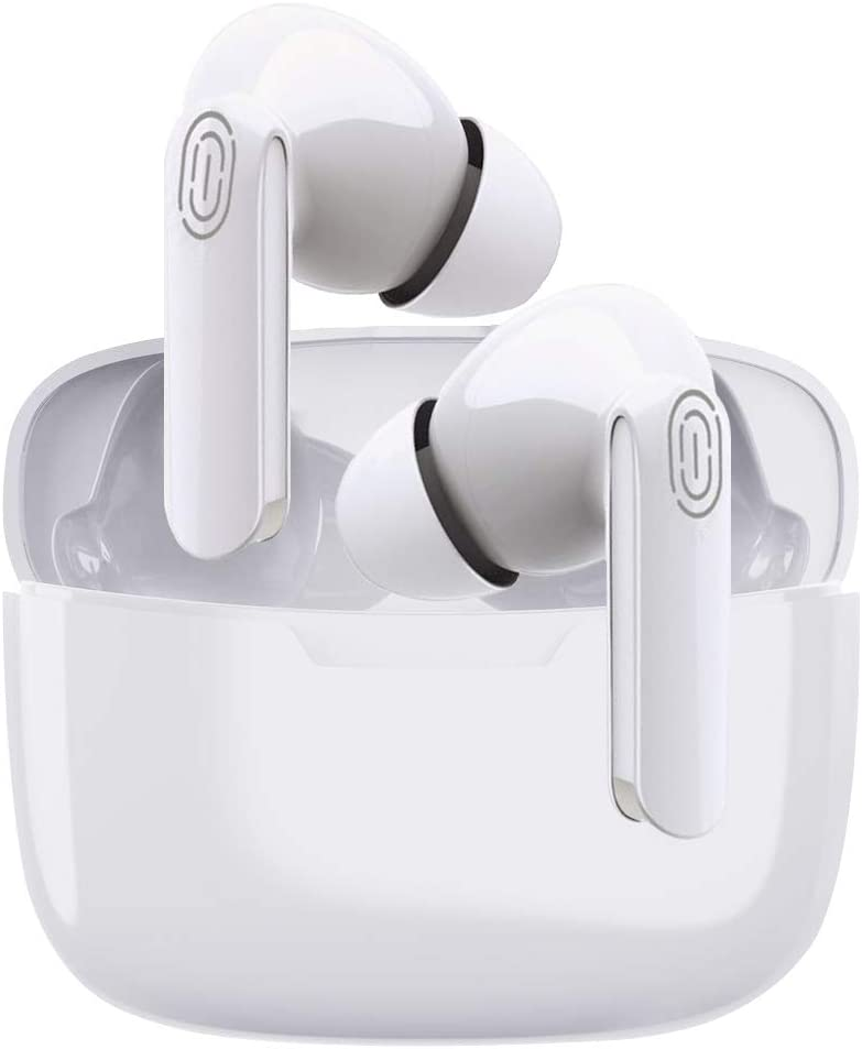 Wireless Earbuds Bluetooth 5.0 in-Ear Headphones with 24-Hour Charging Box IPX5 Waterproof 3D Stereo Built-in Microphone, Earpods Suitable for Apple Airpods Pro/Android/iPhone/Samsung Earbuds (White)