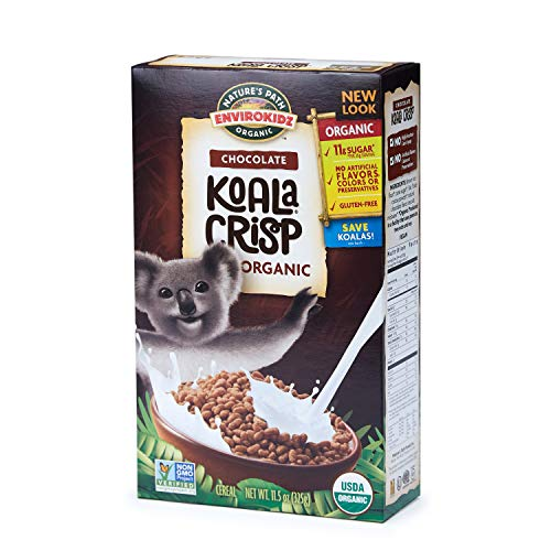 roKidz Koala Crisp Chocolate Cereal, Healthy, Organic, Gluten-Free, 11.5 Ounce Box (Pack of 6) ()