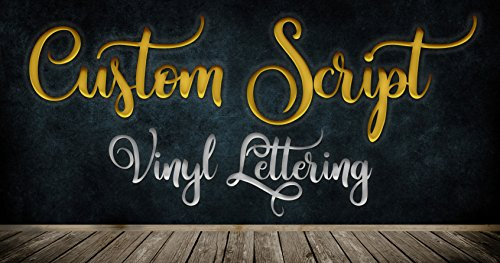 Custom Script Font Text Vinyl Personalized Lettering Decal Live Design ()