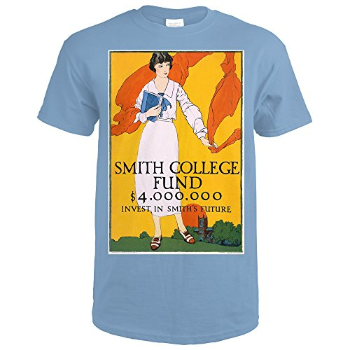 Smith College Fund USA c. 1920 - Vintage Advertisement (Indigo Blue T-Shirt X-Large)