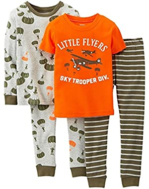 4 Piece PJ Set (Baby) - Little Flyers-9 Months