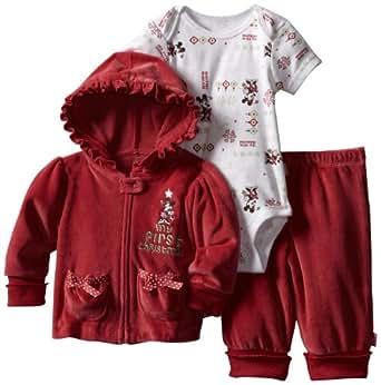 Disney Baby-Girls Newborn Cuddly Bodysuit, Apple Red, 0-3 Months