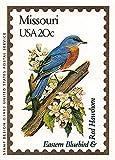 "Missouri State Bird & Flower trading card (Eastern Bluebird & Red Hawthorn) 1991 Bon Air #25 ""The Show Me State"""