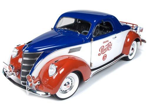 1937 Lincoln Zephyr Coupe Pepsi Cola 1:18th Scale Autoworld Die-cast
