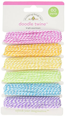 DOODLEBUG Doodle Twine Assortment Pack 60yds-Bright (Assortment Carded)