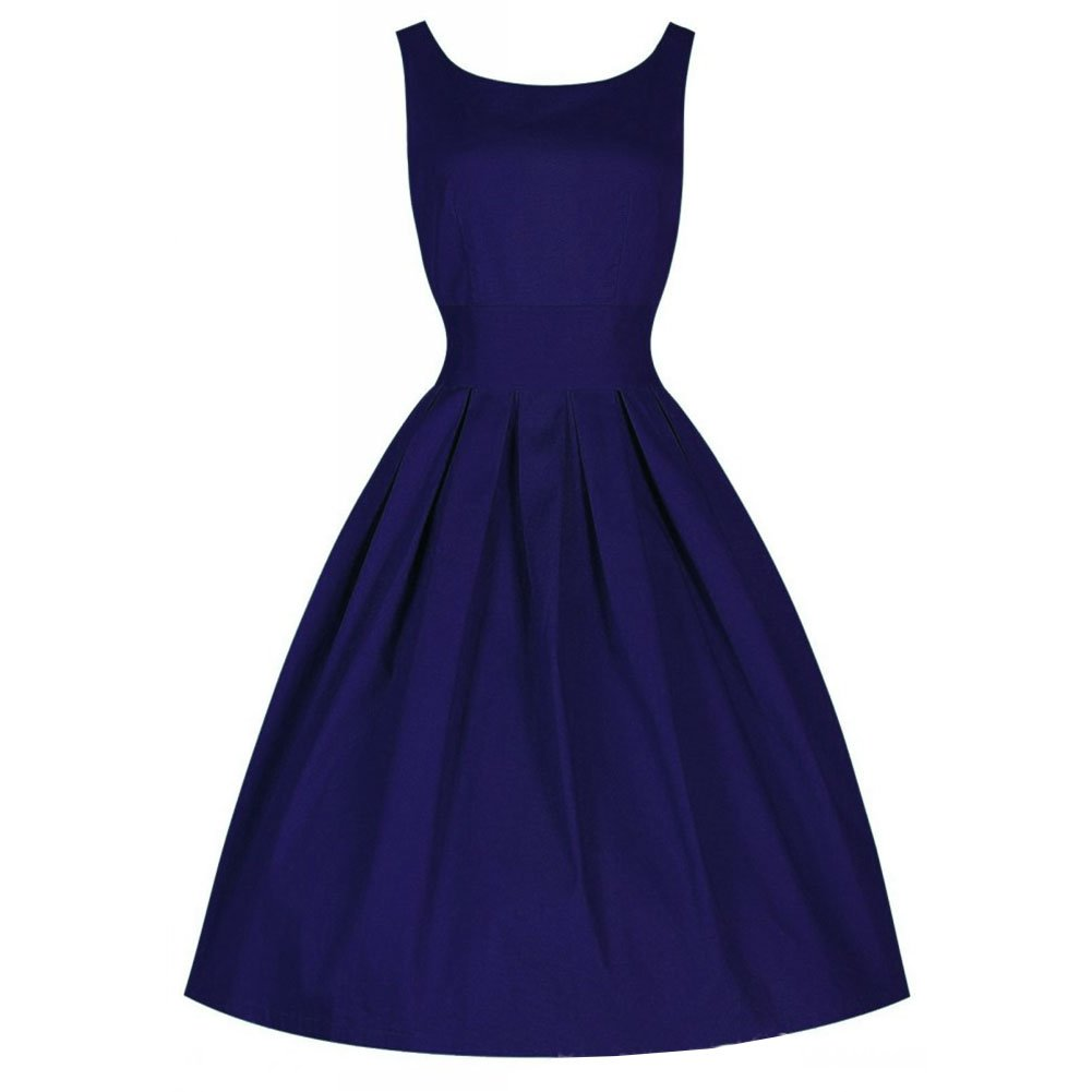 FIODAY Womens Vintage 1950s Inspired Rockabilly Swing Dress Tunic Cocktail Party Prom Dresses: Amazon.co.uk: Clothing