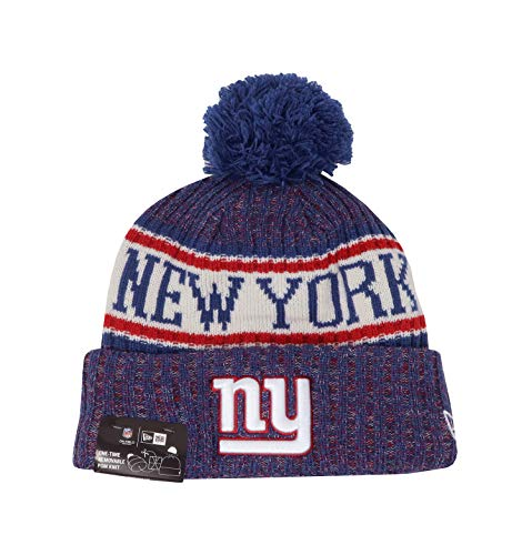 1d034f24bb7 New Era NY Giants NFL 18 Sideline Sport Knit Hat Red White Blue Size