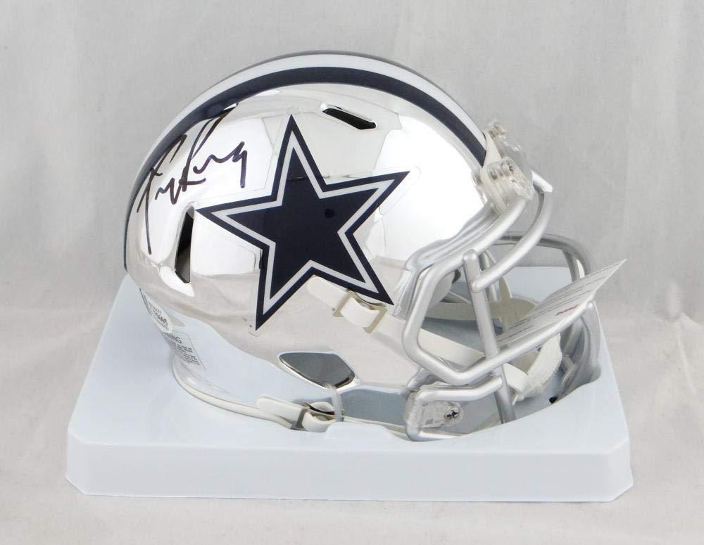 c07e9c6586e Amazon.com: Autographed Tony Romo Mini Helmet - Chrome Beckett Auth *Black  - Beckett Authentication - Autographed NFL Mini Helmets: Sports Collectibles