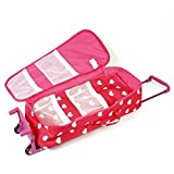 Doll Travel Case Suitcase Storage Bag for 18 Inch Dolls - with Doll Sleeping Bag