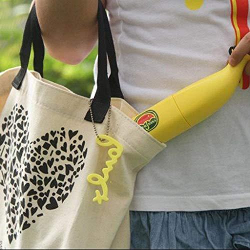 (ℳodern Garden Banana Shape Umbrella Novel Folding Compact UV Sun Umbrella (Yellow))