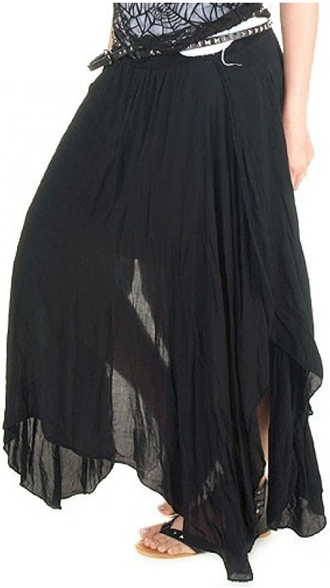Crazyinlove Mujer Falda larga negra negro Large: Amazon.es: Ropa y ...