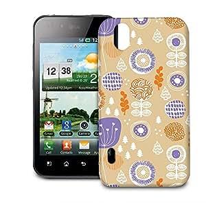 Phone Case For LG Optimus P970 - Autumn Garden Designer Wrap-Around