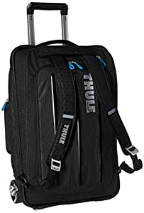 Thule 3201502 Crossover 38 Liter Rolling Carry-On with Laptop Compartment, Black (TCRU-115)
