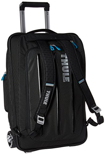 Thule 3201502 Crossover 38 Liter Rolling Carry-On with Laptop Compartment, Black (TCRU-115) - Rail Crossover