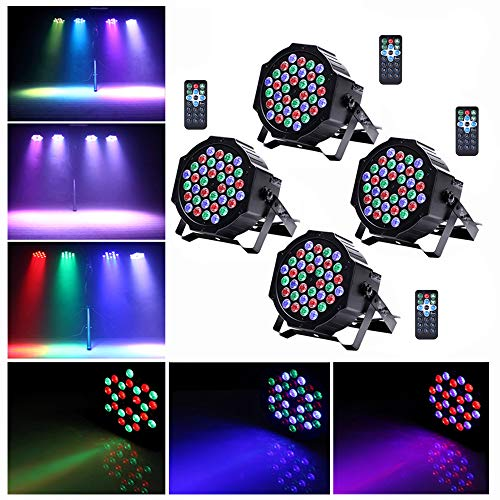 cacd26b53 U`King Stage Lights 36 LED Par Lights Indoor for Party Wedding With Remote  and