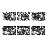 DII Mantel Individual de Vinilo clásico Resistente a Las Manchas con Encaje, 33 x 45 cm, Color Dorado, Negro (Lace Black), 13 x 18, 1