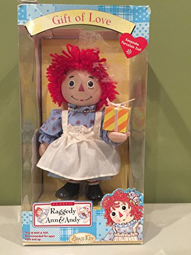 Brass Key Keepsakes Raggedy Anne Porcelain Doll Gift of Love 7