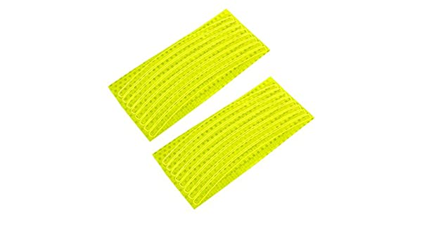 Amazon.com : eDealMax 2 piezas de la bici Ruedas llantas de Chapa de Madera Brillante reflectante adhesivo de Color Amarillo : Sports & Outdoors