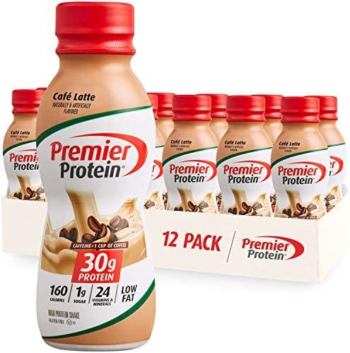 Premier Protein Shake, Café Latte, 30g Protein,...