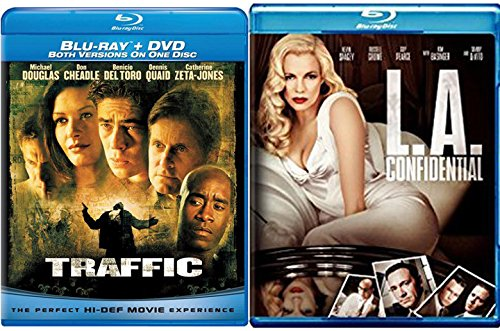 Traffic Blu Ray & L.A Confidential Digital HD 2 Pack Crime Mystery Thriller Double Feature Movie Set