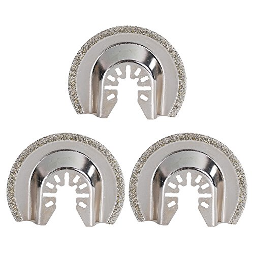 HIFROM Diamond Grout Removal Blade,2-1/2-Inch(64mm) Multi Tool Quick Realease Oscillating Saw Blade fit Black & Decker, Bosch, Craftsman, Chicago, Cougar, DeWalt and more (Pack of 3)
