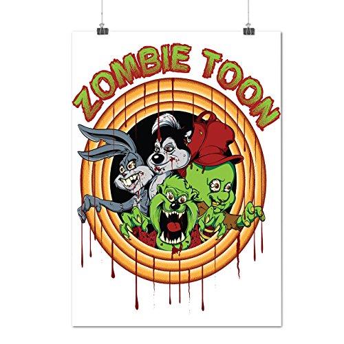 Phantom Rising Animated Costumes (Cartoon Animated Zombie Fun Cartoon Matte/Glossy Poster A2 (60cm x 42cm) | Wellcoda)