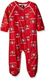 NFL Infant 49Ers Sleepwear All Over Print Zip Up Coverall, 18 Months, Crimson