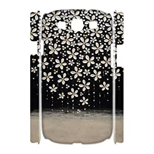 AKERCY Painted Flower Phone 3D Case For Samsung Galaxy S3 I9300 [Pattern-4]