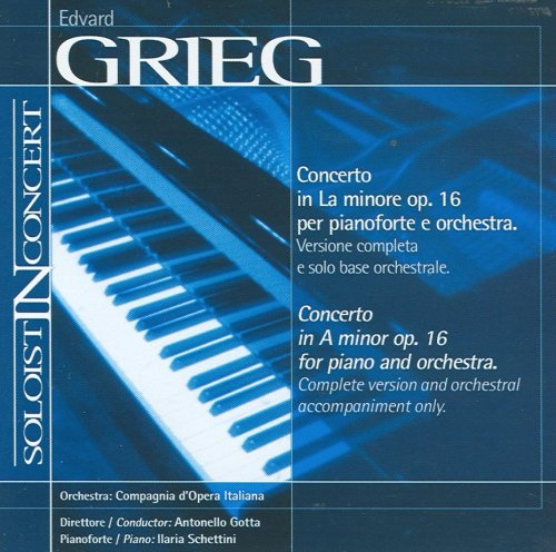 (Music Minus One Piano: Grieg Piano Concerto in A-minor, op 16 (Soloist-In-Concert Series))