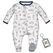 Magnetic Me Easy Close Baby Footie Classic Cars Footed Sleeper Pajamas - Newborn
