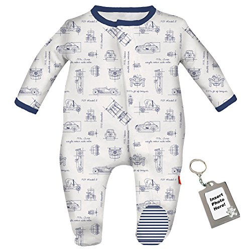 Magnetic Me No Fuss Baby Footie Classic Cars Footed Sleeper Pajamas 12-18 (Clark Kent Outfit)