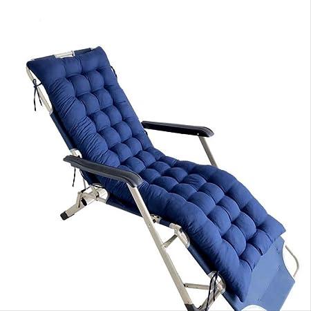 N/D Sillón reclinable Tumbona Cojín de jardín Patio Sillón Almohada de Espalda Chaise Longue Colchón Grueso Sun Asiento Cojín 48x155cm Pelusa Azul Profundo: Amazon.es: Hogar