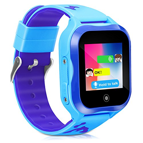 Kids Smart Phone Watch,GPS Kids Tracker with Touch Screen Camera SIM Slot,Waterproof Smartwatch Phone Holiday Birthday Gifts for 3-15 Years Old Girls Boys (blue) by CYHT