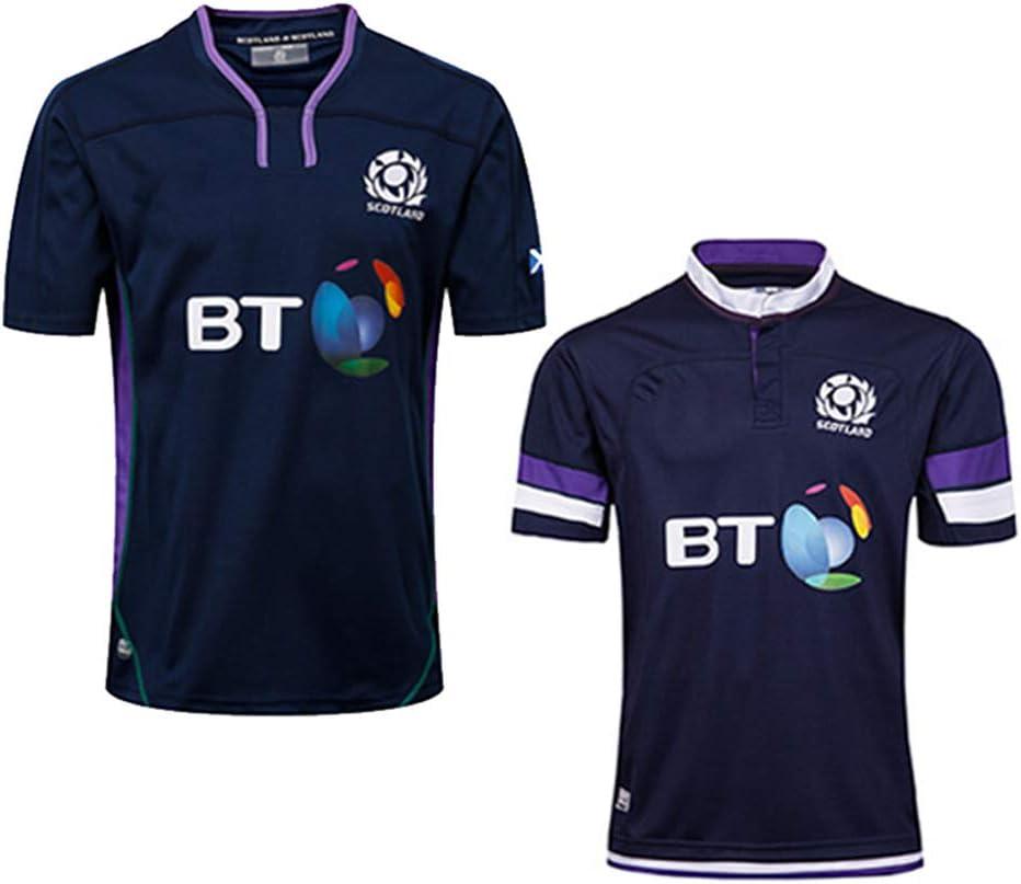 Maglietta da Calcio per Uomo JUNBABY Maglia da Rugby Scozia 2019 Polo da Rugby