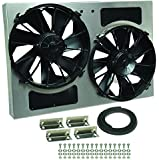 Derale Performance 16826 Gray/Black High Output Dual Radiator Fan