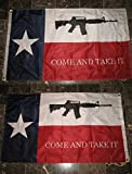 3X5 Texas Come And Take It M4 2 Faced 2-Ply Wind Resistant Flag 3X5Ft