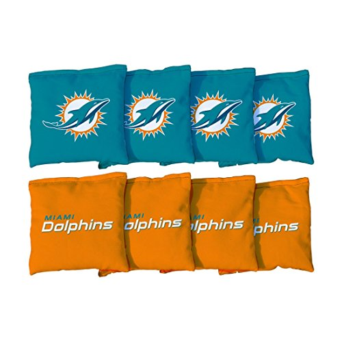 Miami Dolphins NFL Cornhole Game Bag Set (8 Bags Included, Corn-Filled)