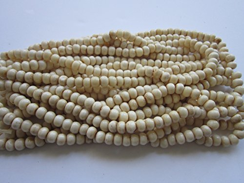 - Buffalo Bone Round 8mm Beads Native American Crafts Jewelry ( 60 beads) 1 Strands