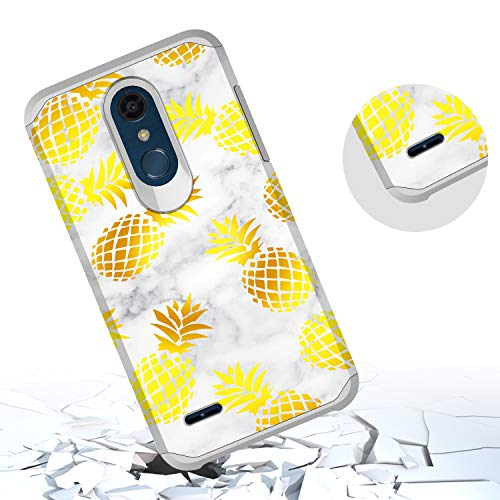 GORGCASE LG K30 Case, LG K10 2018 Case, LG Premier Pro LTE, LG Harmony 2 with Screen Protector, Slim Cute Shockproof Hard TPU Girls Women Men Armor Protective Cover for LG Phoenix Plus Pineapple by GORGCASE (Image #4)