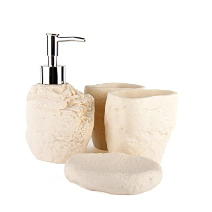 Bagno Wash set pietra arenaria bagno quattro pezzi Set bagno kit ...