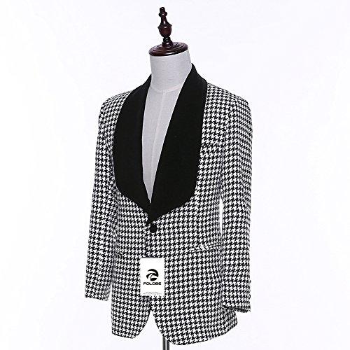 FOLOBE Mens Blazer Jacket Tailor Made Abiti da sposa per uomo Slim Fit Tuxedos