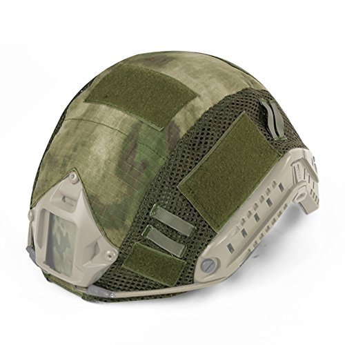 (DETECH Tactical Military Combat Fast Helmet Camouflage Cover for MH/PJ Type Fast Helmet Airsoft Paintball Hunting Shooting Gear)