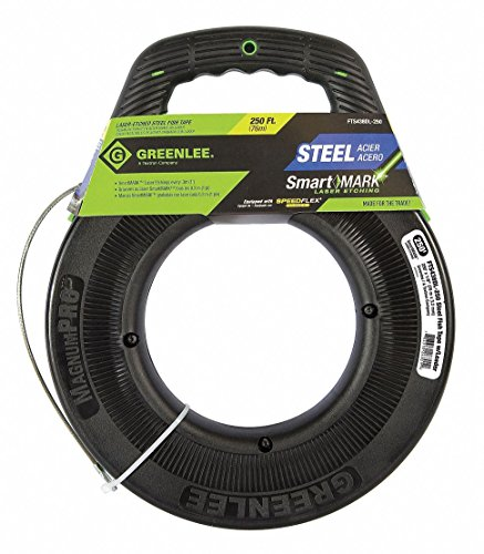250 ft. Marked Fish Tape, Steel, 1/8
