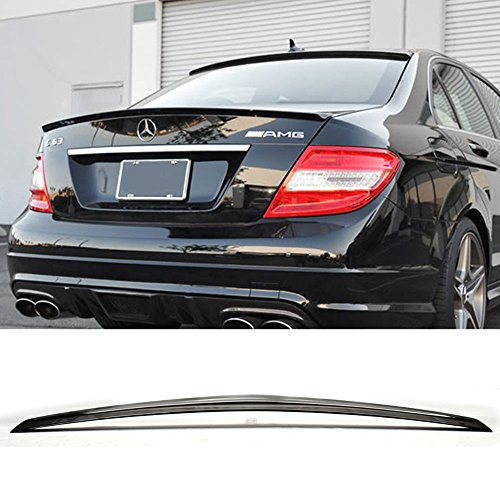 - Pre-painted Trunk Spoiler Fits 2010-2016 Benz E-Class W212 | AMG Style #040 Black ABS Added On Lip Wing Bodykits other color available by IKON MOTORSPORTS | 2010 2011 2012 2013 2014 2015 2016