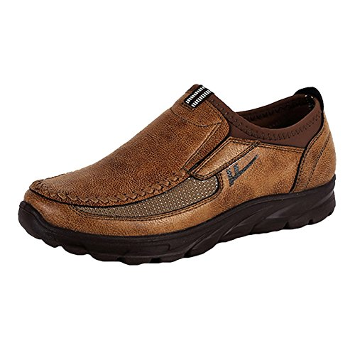 On Chaussures Confortable Respirant Chaussures Hommes Casual En Plat Mocassins Slip Juleya Cuir Antid D'affaires qw8Zxqz