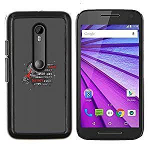 Jordan Colourful Shop - Death Star For Motorola Moto G (3rd Gen 2015) Personalizado negro cubierta de la caja de pl????stico