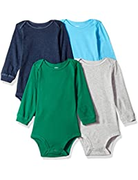 Baby Boys' 4-Pack L/S Bodysuits